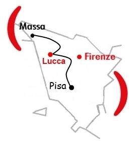 Mappa Centro Operativo di Lucca