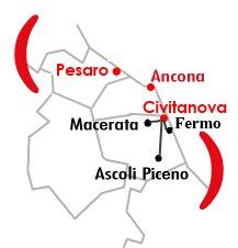 Mappa Filiale di Macerata