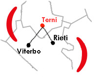 Mappa Centro Operativo di Terni