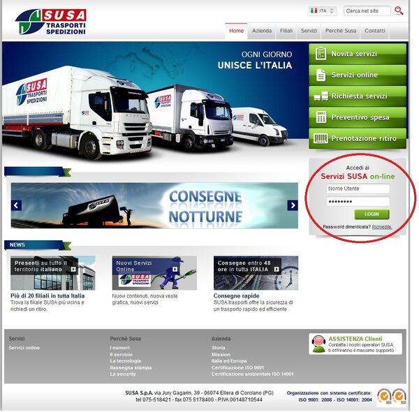 Login da Home Page