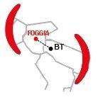 Mappa Centro Operativo di Foggia