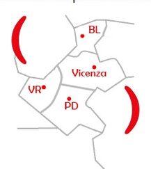 Mappa Filiale di Vicenza