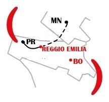 Mappa Filiale - Reggio Emilia