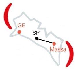 Mappa Centro operativo di Massa Carrara